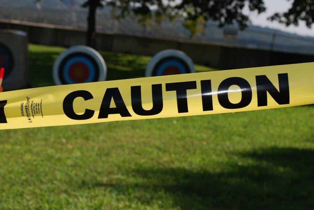 cautionのテープ