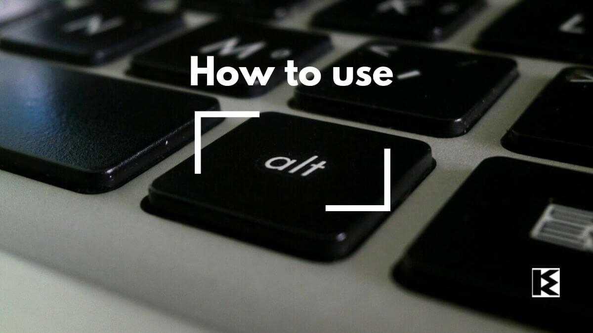 Altキーの使い方
